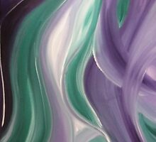 Purple White and Green Swirls by pimpbyc