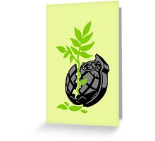 Broken Grenade Greeting Card