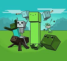 Minecraft Cartoon by imLXZ