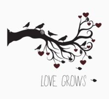 Love Grows Birds and Hearts by pencreations
