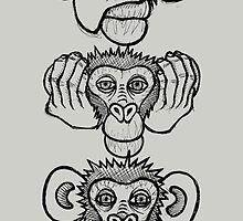 See no evil, hear no evil, speak no evil by Brett Gilbert