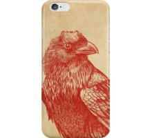 Red Raven  iPhone Case/Skin