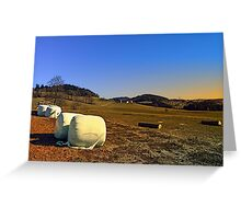 Hay bales and panorama | landscape photography Greeting Card