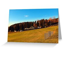 Village scenery with fences | landscape photography Greeting Card