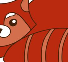 Red panda alert Sticker