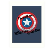 I'm With You Shield Art Print