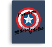 I'm With You Shield Canvas Print
