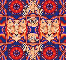 Cool Eagles and Patterns by walstraasart