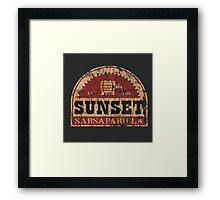 Sunset Sarsaparilla Framed Print