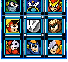 Megaman 2 Boss Select by Funkymunkey