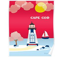 Cape Cod, Massachusetts Lighthouse Print from Loose Petals Poster