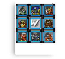 Megaman 2 Boss Select (with Sprites) Canvas Print
