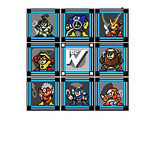 Megaman 2 Boss Select (with Sprites) Photographic Print