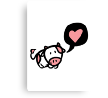 Cow in love Canvas Print