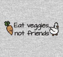 Eat veggies not friends Kids Clothes