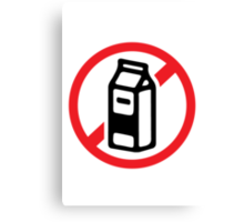 No milk - no dairy Canvas Print