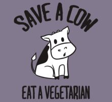 Save a cow, eat a vegetarian Kids Clothes