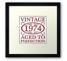 Vintage 1974 Birth Year Framed Print
