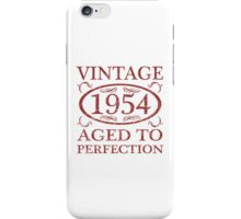 Vintage 1954 Birth Year iPhone Case/Skin