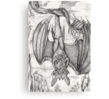 Tea Time for Toothless Canvas Print