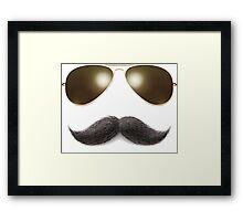 Easy Mustache Rider Framed Print