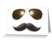 Easy Mustache Rider Greeting Card
