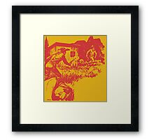Boothill Is My Destination - Red Framed Print