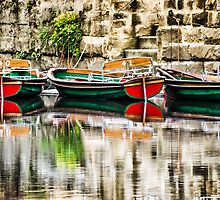Knaresborough boats by John Dunbar