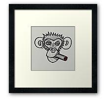 Monkey with cigar Framed Print