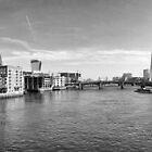 London Skyline from Millennium Bridge by ryanbaileyphoto