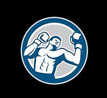 Boxer Boxing Boxing Circle Retro by patrimonio
