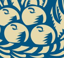 Crop Harvest Basket Retro Sticker
