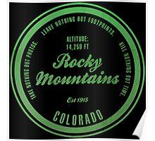 Rocky Mountains National Park, Colorado Poster