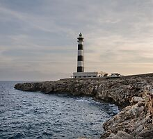 Cap d'Artrux lighthouse, Island of Menorca, Spain by Stanciuc