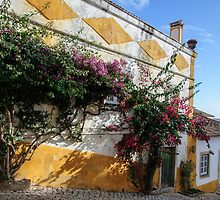 Traditional architecture in Medieval Portuguese Town of Obidos by Stanciuc