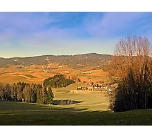 Peaceful panorama with warm colors | landscape photography Photographic Print