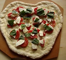 Heart-Shaped Pizza by AGODIPhoto