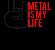 Metal is my Life Satan Hand Design by Style-O-Mat