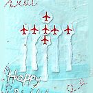 Red Arrows Birthday Card - Dad by Blackbird76