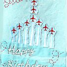 Red Arrows Birthday Card - sister 2  by Blackbird76