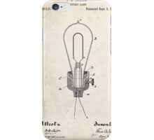 Edison Light Bulb Invention US Patent Art iPhone Case/Skin