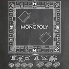 Monopoly Board Game US Patent Art 1935 Blackboard by Steve Chambers