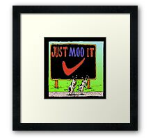 The Jogging Cows  Framed Print