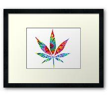 Tie Dye Cannabis Leaf Framed Print