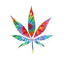 Tie Dye Cannabis Leaf Photographic Print