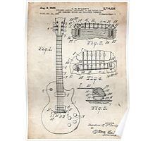 Gibson Les Paul Guitar US Patent Art 1955 Poster
