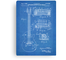 Gibson Les Paul  guitar us patent 1955 Canvas Print
