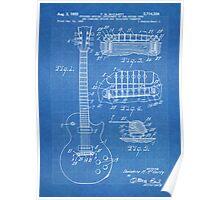 Gibson Les Paul  guitar us patent 1955 Poster