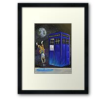 Chell and the Doctor Framed Print