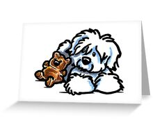 Coton Teddy Bear Greeting Card